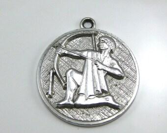 Pendant, Charm, Anson, Sterling Silver, 925 Silver, Archer Charm, Circular Pendant
