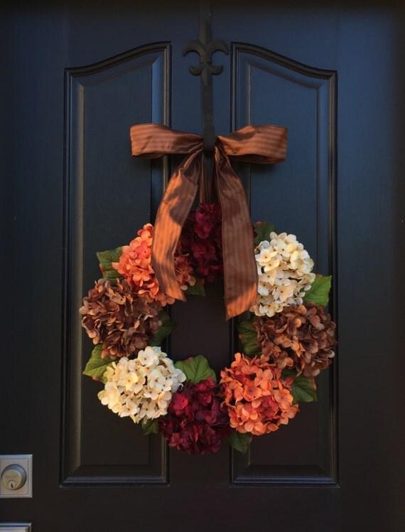 Fall Wreath Sale Thanksgiving Wreath Fall Decor Front Door