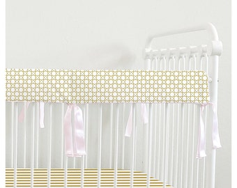 Bumperless Teething rail guard // Gold collection // choose your trim // Ready To Ship