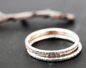 Rose-gold filled stacking ring