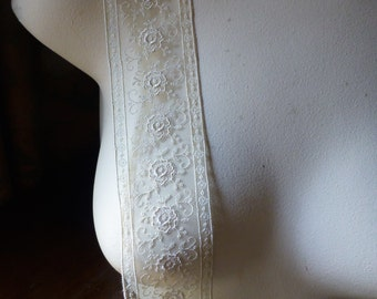 Ivory no. 2 Lace Trim from France for Bridal, Sashes, Straps, Lingerie, Garments, Costumes