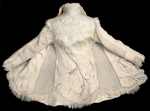 Custom order for Barbara second payment White felted winter jacket