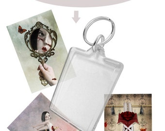Keychain - Art Keychain- Keyring - Art Keyring - Choose Your Own