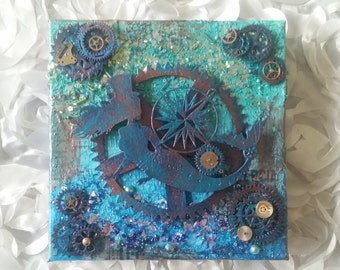Steampunk Mermaid in Blue #1