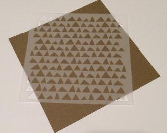 Square 5 inch stencil - Triangles