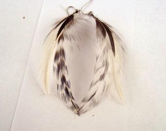 cruelty free feather earrings