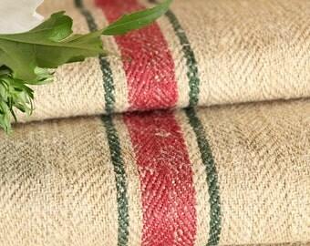 R 319 antique hemp linen ROSE GREEN upholstery 8.088yards handloomed benchcushion 캔버스 자루 Beachhouse look