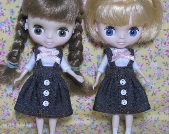 Jean Suspender Skirt and T-shirt for Petite Blythe