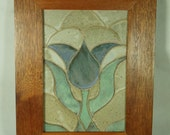 Tulip Mosaic Wallhanging Handmade Pottery