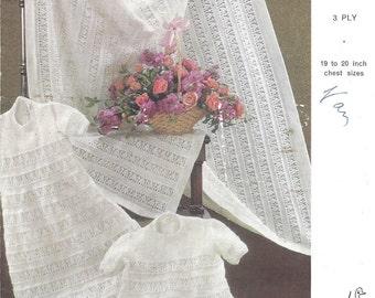 Babies Trousseau Vintage Knitting Pattern 526