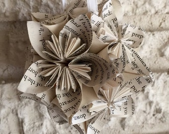The Great Gatsby Book Small Paper Flower Pomander Ornament