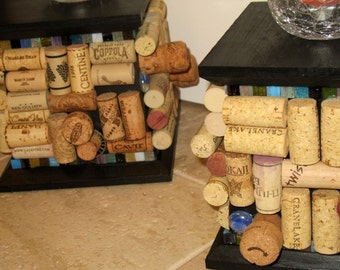 Wine Cork Candle Holders (Set of 2)