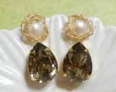 Gold Earrings Brilliance Nest- Princess  Earrings - Gold Filled