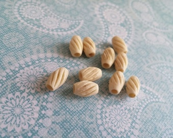 Carved Bone beads 10mm natural ethnic tribal bone beads 10pcs