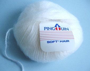 "Pingouin ""soft'hair"" yarn - Natural"