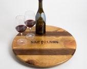 Large Sine Qua Non Wine Crate Lazy Susan