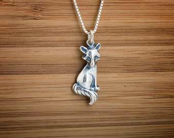 Little Fox - STERLING SILVER - (Charm, or Necklace)