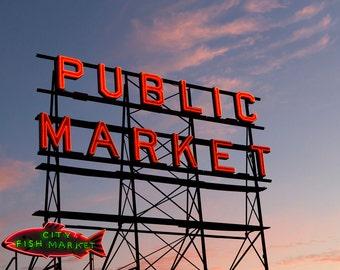 Pike Place Market, Seattle - 11x14 Travel Photo Print