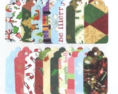 Clearance Sale  - Assorted Christmas Large Scallop Die Cut Gift Hang Tags (Set of 20) (C51)