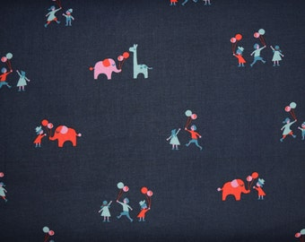 Balloons Fabric in Navy from Penny Arcade by Kimberly Kight for Cotton & Steel