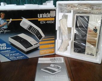 Vintage Uniden EX 4102 Cordless Phone NOS