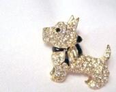 RESERVED FOR SUSAN Monet Rhinestone Scottie Dog Brooch