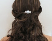 Rose Gold Bridal hair comb, Wedding headpiece, Bridal headpiece, Crystal Wedding hair comb, Rose Gold hair accessory, Bridal hair clip