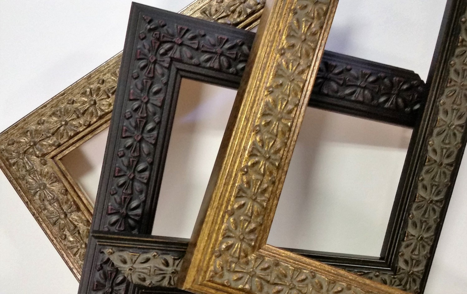 14 X 18 20 X 24 Wood Picture Frames Ornate Vintage