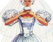 Princess Diana Wedding Dress! Vintage ©1986 McCall's Sewing Pattern 2341, Misses' Bridal Gown, Designed by Priscilla, Size 20, Uncut with FF