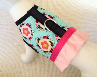 Ladybug, Bee, And Flower Dog Harness Vest