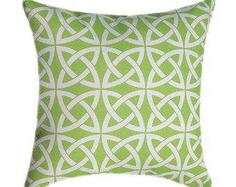 Linked In Lime Green Celtin Knot Outdoor Decorative Pillow Free Shipping