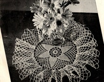 Doily PATTERN 4038 Ruffle 9 inch Doily Pattern with instructions on how to Starch it In PDF Format Instant Download