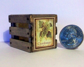 Mini Chardonnay Wine Crate  1:12 scale