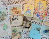 Earlier Easter Greetings from 1800s in Victorian Trade Cards to 1940s Vintage Greetings in Easter Lot No 27