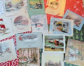 Over the River on the Bridge or Pass the Icy Streams on Your Sleigh in Vintage Christmas Card Lot No 616 Total of 14