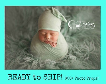 RTS Green Newborn Wrap Photo Props, 100 Colors, Pistachio Dream Stretch Knit Newborn Baby Photo Prop, Baby Photography Props, Mint, Girls