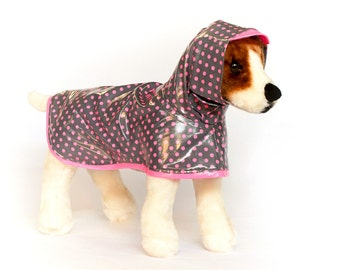 Berry Pop: Dog Raincoat, Waterproof Dog Coat, Dog Raincoat with Hood, Raincoats for Dogs