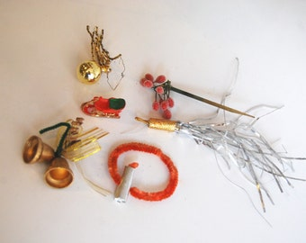 Vintage Christmas Pieces and Parts