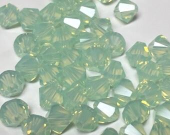 Swarovski Chrysolite Opal 20 pc 6mm Bicone