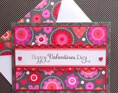 Valentine's Day Card with Matching Embellished Envelope - Heart Blossoms