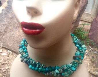 SALE!  Three strand Turquoise Necklace