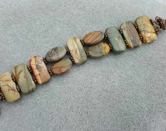 Earthy Red Creek Jasper Bracelet
