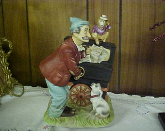 Melody in Motion- Willie the Organ Grinder- bisque Porcelain 1987 Collectible