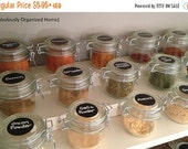 On SALE- 24 Circle Chalkboard Labels - 1.75 inch , Chalk Labels® Spice Jar Labels, Pantry Labels, Chalkboard Stickers
