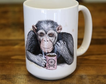 Chimpanzee Coffee and Tea Mug