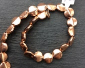 8 inch Strand of Solid Copper Beads