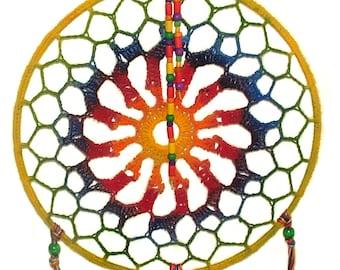 Dreamcatcher Boho Hippy Rainbow Dream Catcher Medium Size Dreamcatcher Mandala