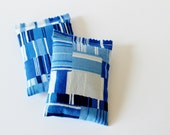Organic Lavender Scent Bags, Modern Bedroom Decor, Shades of Blue Mosaic Abstract