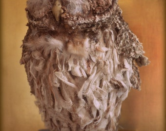 Faux Taxidermy Textile Owl