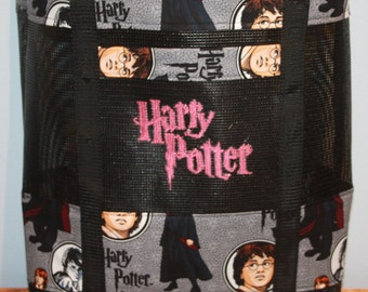 Harry Potter Vinyl Mesh Tote with pockets